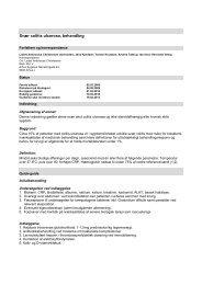 Disposition, layout og vejledning i udformning af kliniske ... - DSGH