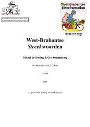 West-Brabantse Streekwoorden - Cubra