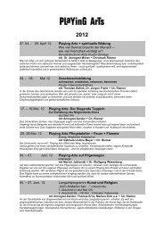Kurse 2012+Text - Playing-Arts