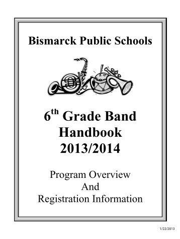 6 Grade Band Handbook 2013/2014 - Bismarck Public Schools