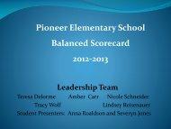 Pioneer Continuous Improvement Plan - Bismarck Public Schools
