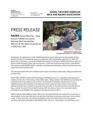 PRESS RELEASE - North American Deck and Railing Association