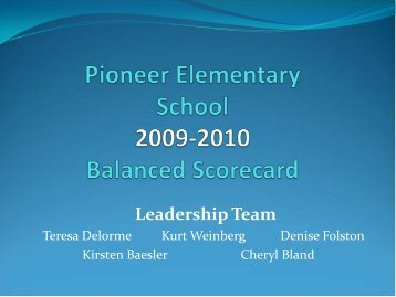 Pioneer Continuous Improvement Plan - Bismarck Public Schools