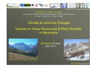 Climate & Land-use Changes Impacts on Water Resources & Plant ...