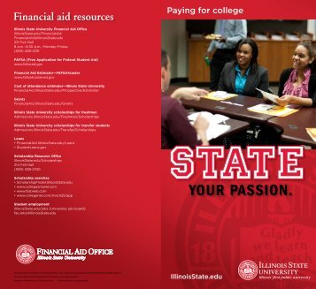 Financial aid resources - Illinois State University