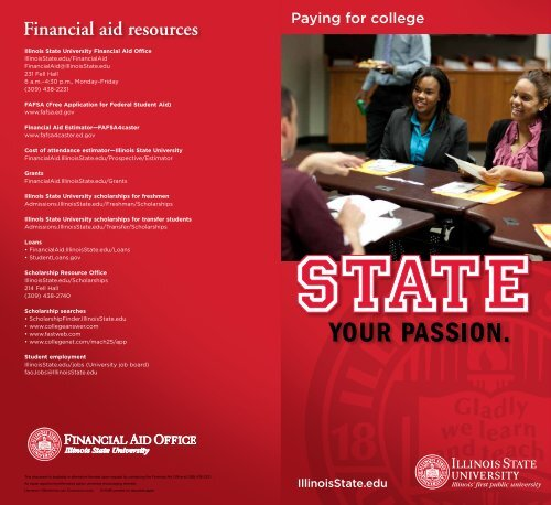 Financial Aid Resources Illinois State University