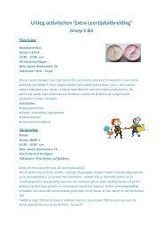 Uitleg activiteiten 5&6 - OBS De Pijler