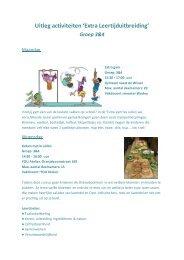 Uitleg activiteiten 3&4 - OBS De Pijler