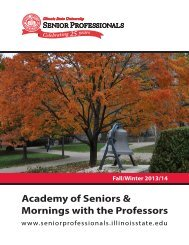 Academy of Seniors & Mornings with the Professors