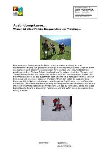 Wissen ist alles! Fit fürs Bergwandern und Trekking