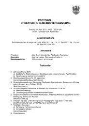 protokoll ordentliche gemeindeversammlung - Adelboden