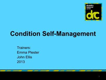Condition Management week 2.pdf - Birmingham Disability ...