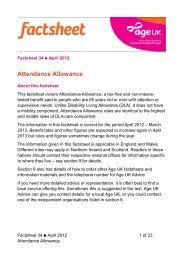 Attendance Allowance - Birmingham Disability Resource Centre