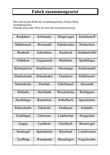 Zusammengesetzte Nomen - Wiki