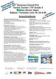 Ausschreibung Senioren Grand Prix Tennis Turnier / ITF Grade 4 ...