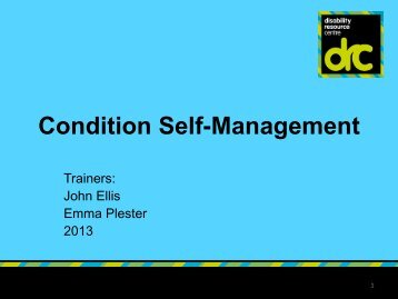 Condition Management week 3.pdf - Birmingham Disability ...