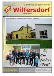 Ausgabe 4/2011 - Marktgemeinde Wilfersdorf