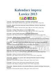 Kalendarz imprez Łowicz 2013