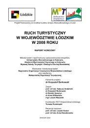 ruch turystyczny w województwie łódzkim w 2008 roku - Baza ...