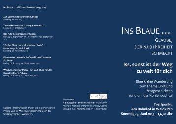 beigefügten Flyer - Seelsorgeeinheit Waldkirch