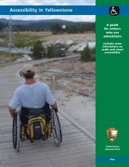 Accessibility in Yellowstone - Yellowstone Up Close and Personal