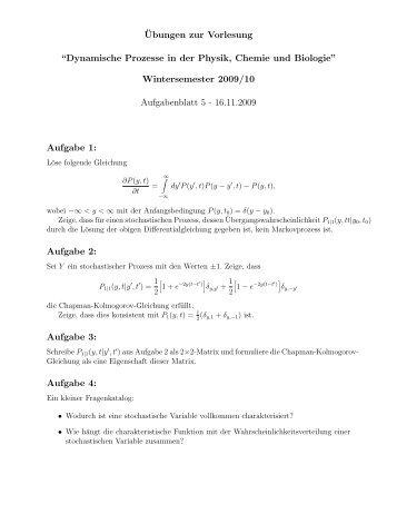Dynamische Prozesse in der Physik, Chemie und Biologie