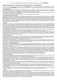 Allgemeine Mietbedingungen für Mietwohnwagen ... - CARA-VANS