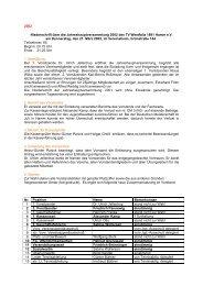 2002 Niederschrift über die ... - HSC 08 Faustball