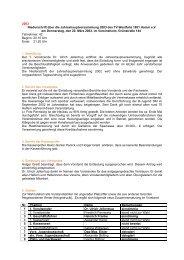 2003 Niederschrift über die ... - HSC 08 Faustball