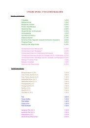 Speisen- und Getränkekarte - HSC 08 Faustball