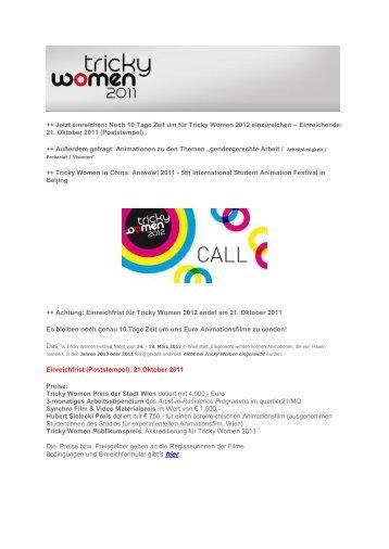 + Jetzt einreichen: Noch 10 Tage Zeit um für Tricky Women 2012 ...