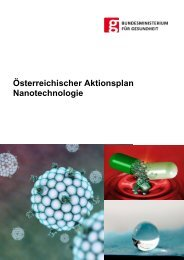 Aktionsplan Nanotechnologie - Bundesministerium für Gesundheit