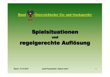 Seltene Spielsituationen - Stocksportnews