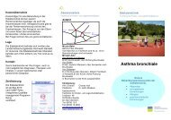 Flyer Asthma bronchiale April 2011 - Edelsteinklinik