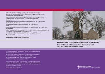 Gemeindebrief November/Dezember 2011 / Januar 201