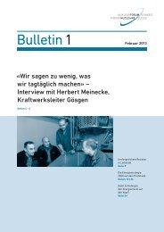Bulletin 1 - Nuklearforum Schweiz