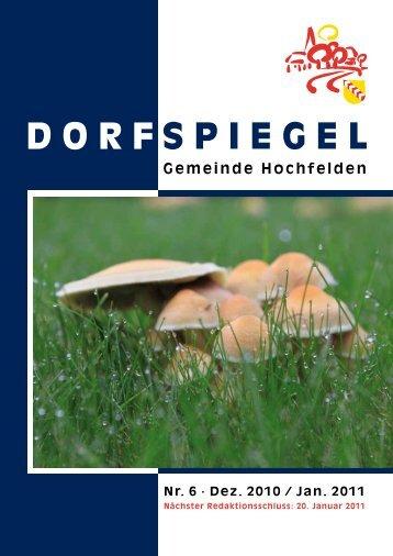 Ausgabe Nr. 6 Dezember 2010/Januar 2011 - Hochfelden