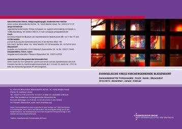 Gemeindebrief Dezember 2012/Januar/Februar 201 - Evangelische ...