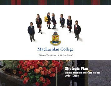 MacLachlan College - Our Kids