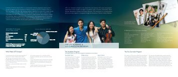 THE UTS ACADEMIC & CO-CURRICULAR PROGRAM - Our Kids
