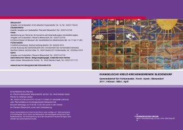Gemeindebrief Februar/März/April 201 - Evangelische Kreuz ...