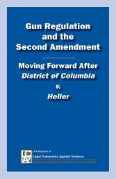 Gun Regulation and the Second Amendment - Law Center to ...