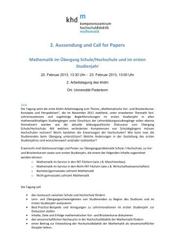 Call for Papers als pdf-Datei - Kompetenzzentrum ...