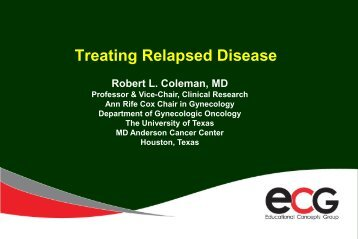Treating Relapsed Disease - Educational Concepts Group