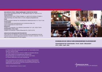 Gemeindebrief März/April/ Mai 201 - Evangelische Kreuz ...