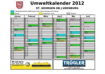 Umweltkalender 2012 - Gemeinde St. Georgen ob Judenburg