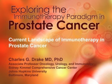 Current Landscape of Immunotherapy in Prostate Cancer