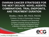 ovarian cancer strategies for the next decade: novel agents ...