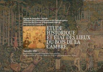 ETUDE HISTORIQUE ET ETAT DES LIEUX DU BOIS DE LA CAMBRE.