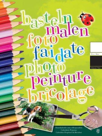 Dauerkalender zum selbstgestalten Calendario Perpetuo Calendrier ...